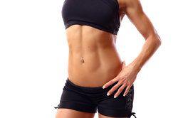 fitness model in black bra