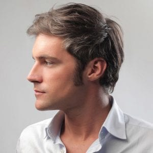 profile of a man showing a strong jaw