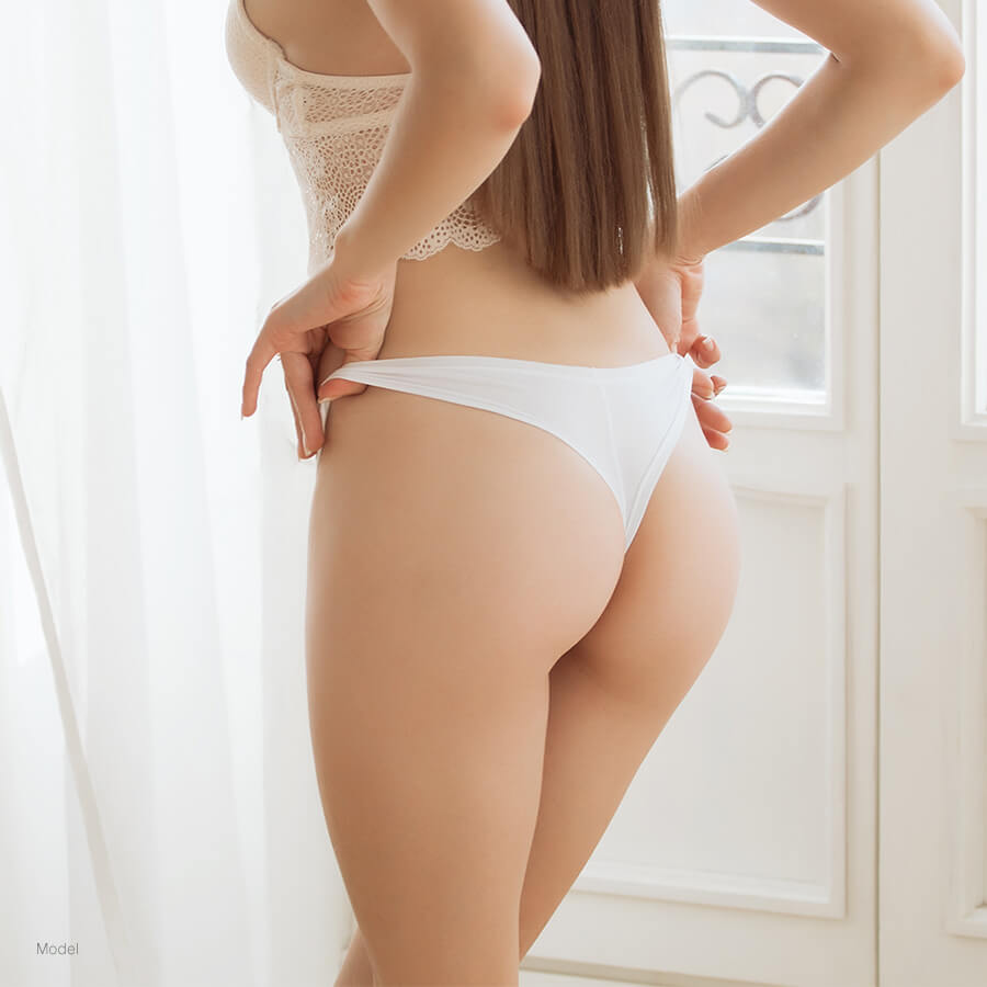 Woman with a nice butt